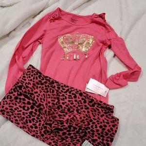 Juicy Couture Girls 2PC Sleepwear Pink Sz 10
